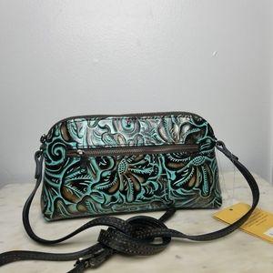 Patricia Nash bova leather crossbody bag